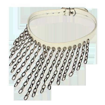 Halsband mit Ringketten